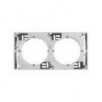 Surface-mounting box, multi-gang, Aluminium