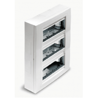 Flush mounting box, Vertical 4 columns, Ivory
