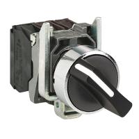 Standart handle Selector Switch 1 N/O, Black