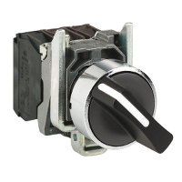 Standart handle Selector Switch 1 N/O + 1 N/C, Black