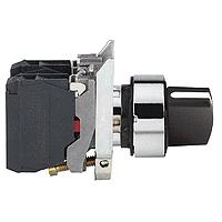 Standart handle Selector Switch 2 N/O, Black