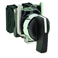 Black long handle Selector Switch 2 N/O, Black