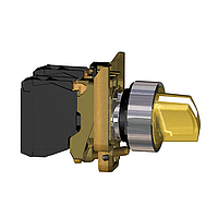 Standart handle Illuminated selector switch 1 N/O + 1 N/C, Orange