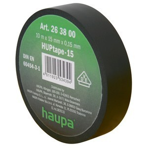 Insulating tape, 15mm, 10m, Black