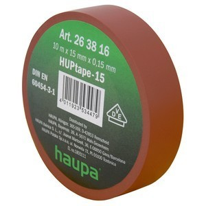 Insulating tape, 15mm, 10m, Brown