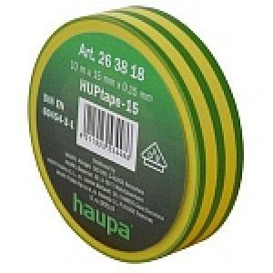 Insulating tape, 15mm, 10m, Yellow/Green