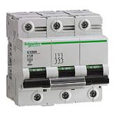 Миниатюрен автоматичен прекъсвач C120N, 3P, 125A, B, 20kA