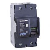 Миниатюрен автоматичен прекъсвач NG125H, 2P, 25A, C, 36kA