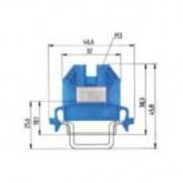 Проходна клема (Ex)i9700 A/ 5 S35, 2.5 mm², Синя