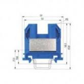 Проходна клема (Ex)I 9700 A/12 S35, 25 mm², Синя