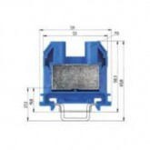 Проходна клема (Ex)I  9700 A / 16 S35, 35 mm², Синя