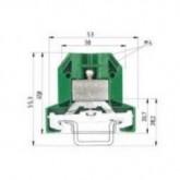Заземителна клема 9700 A / 8 SL 2 S35, 10 mm², Жълто-зелена