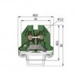 Заземителна клема WK 2,5 SL/35, 2.5 mm², Жълто-зелена