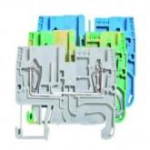 Проходна пружинна клема F/P/F WKFN 2,5, 2.5 mm², Сива
