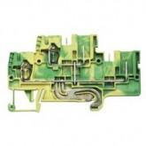 Заземителна клема WKFN 2,5 E/F/P/SL, 2.5 mm², Жълто-зелена