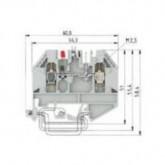 Проходна винтова клема WK 2,5U/D/8113S/V/LD50V0, 2.5 mm², Сива