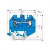Проходна винтова клема WK 2,5U/D/8113S/V/VK/V0, 2.5 mm², Синя