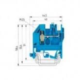 Проходна винтова клема WK2,5U/8113S/V/VK/V0, 2.5 mm², Синя