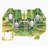 Заземителна клема WT 4 D2/2 PE, 4 mm², Жълто-зелена
