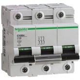 Миниатюрен автоматичен прекъсвач C120H, 3P, 50A, B, 30kA