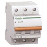 Миниатюрен автоматичен прекъсвач Domae, 3P, 25A, C, 6kA