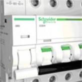 Миниатюрен автоматичен прекъсвач iC60H, 3P, 0.5 A, C, 10 kA