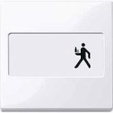 Капак за механизъм с поле за етикет, Активно бяло