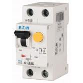 Автоматичен прекъсвач с вградена дефектнотокова защита  PFL6, 1+N, C, 10 A, 6 kA, 30 mA, AC