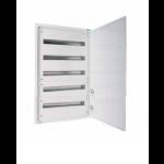 Разпределително табло за открит монтаж xBoard BF 5 x 33, с непрозрачна бяла врата, Бяло