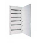 Разпределително табло за открит монтаж xBoard BF 6 x 33, с непрозрачна бяла врата, Бяло