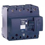 Миниатюрен автоматичен прекъсвач NG125L, 4P, 25A, D, 50kA