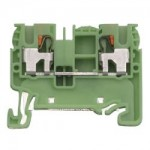 Заземителна клемаl WTP2,5/4 PE, 2,5mm²,Жълто-зелена