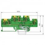 Заземителна клема WKFN 2,5 E1/2/SL/35, 2.5 mm², Жълто-зелена