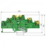 Заземителна клема WKFN 2,5 E3/SL/35, 2.5 mm², Жълто-зелена