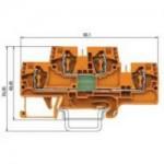 Специална клема WKFN 4 E/35/1D/2G, 4 mm², Оранжева
