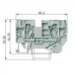 Проходна пружинна клема WKFN 6/35, 6 mm², Сива