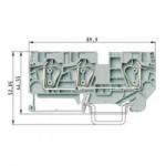 Проходна пружинна клема WKFN 6 D1/2/35, 6 mm², Сива