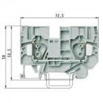 Проходна пружинна клема WKFN 10/35, 10 mm², Сива