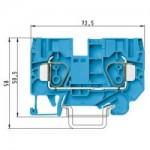 Проходна пружинна клема WKFN 10/35, 10 mm², Синя