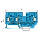 Проходна пружинна клема WKFN 10 D1/2/35, 10 mm², Синя
