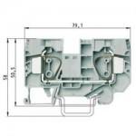 Проходна пружинна клема WKFN 16/35, 16 mm², Сива