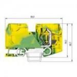 Заземителна клема WKF 35 SL/35, 35 mm², Жълто-зелена