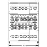 Разпределителен блок 4P, 80/100AL, 2 входа/9 изхода