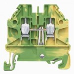 Заземителна клема WT 2,5 PE, 2.5 mm², Жълто-зелена