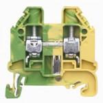 Заземителна клема WT 10 PE, 10 mm², Жълто-зелена
