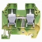 Заземителна клема WT 16 PE, 16 mm², Жълто-зелена