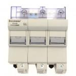 Държач за стопяем предпазител LV, 125 A, AC 690 V, 22 x 58 mm, 3P + microswitch, IEC
