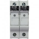 Държач за стопяем предпазител LV, 30 A, AC 600 V, 10 x 38 mm, CC, 2P, UL, индикиращ, за монтаж на DIN шина