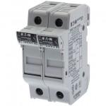 Държач за стопяем предпазител LV, 30 A, AC 600 V, 10 x 38 mm, CC, 2P, UL, за монтаж на DIN шина