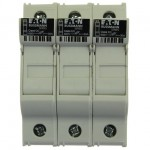 Държач за стопяем предпазител LV, 30 A, AC 600 V, 10 x 38 mm, CC, 3P, UL, за монтаж на DIN шина